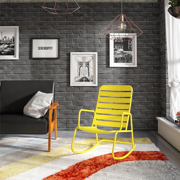 Novogratz Roberta Rocker Chair, Yellow