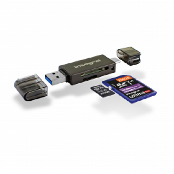 USB 3.0 SD & microSD Card Reader 180MB/s Read and 130MB/s Write Type-A & Type-C
