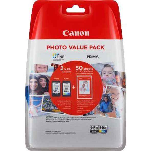 CANON 545XL/546XL MULTIPACK (WITH PH PAP)