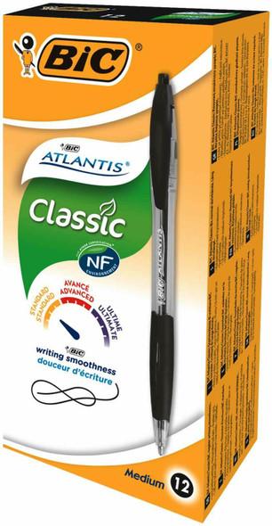 BIC ATLANTIC BLACK 12 PACK