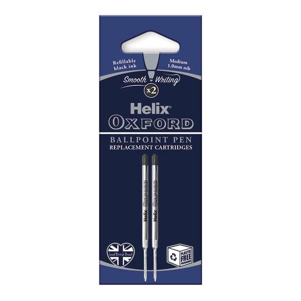Oxf Ballpoint Pen Refills Black x2