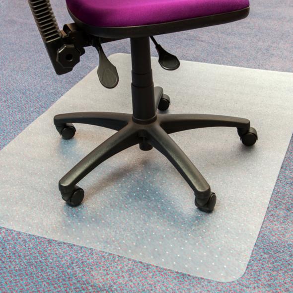 PVC Chair Mat Low Pile Carpet (90 x 120cm)