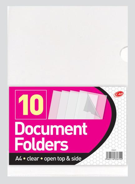 10 DOCUMENT FOLDERS A4