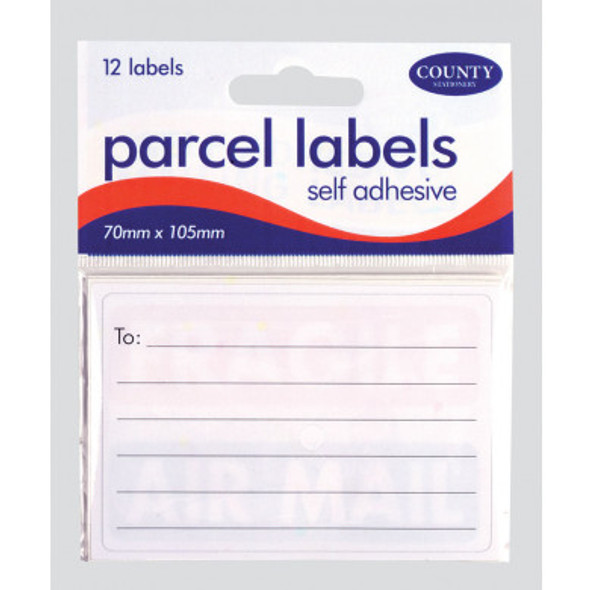 Self Adhesive Parcel Labels 70x105mm 12s