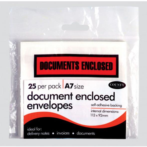 DOCUMENT ENCLOSED ENVELOPES A7