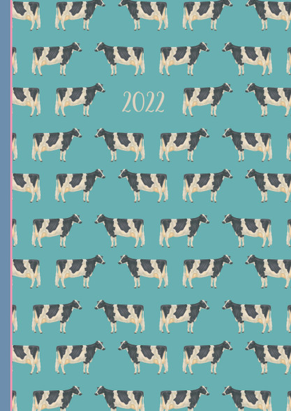 2022 A5 Padded Diary - Cows