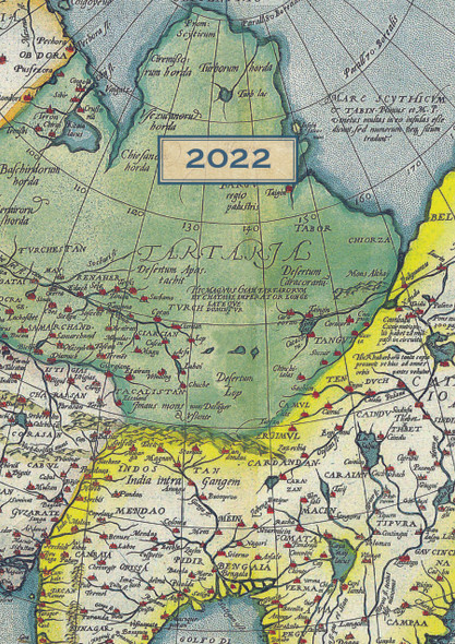 2022 A5 Padded Diary - Antique Maps