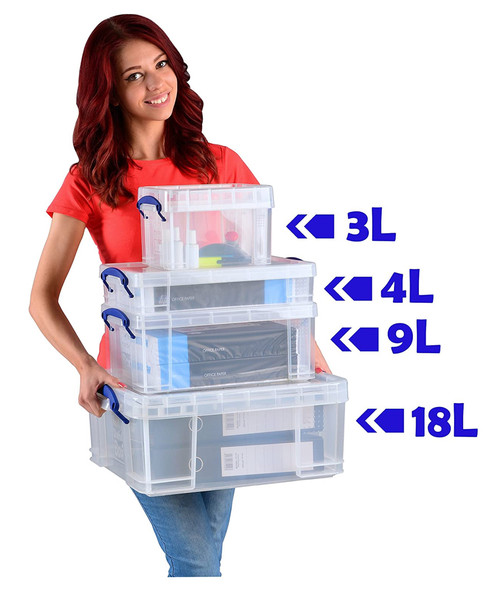 REALLY USEFUL BOX CLEAR 18L