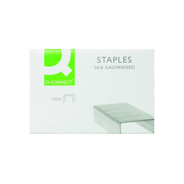 Q-CONNECT 26/6MM METAL STAPLES (PACK OF 5000)