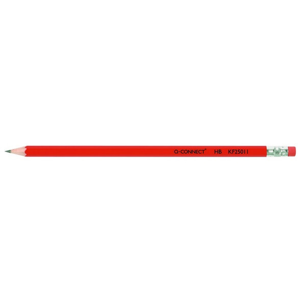 Q-CONNECT HB RUBBER TIPPED OFFICE PENCIL (PACK OF 12)
