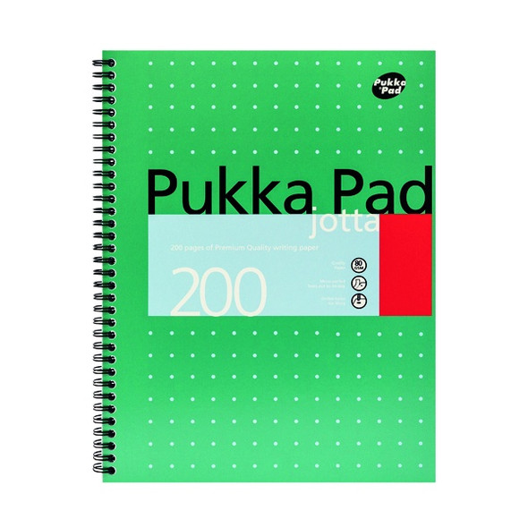 PUKKA PAD RULED WIREBOUND METALLIC JOTTA NOTEBOOK 200 PAGES A4 (PACK OF 3)
