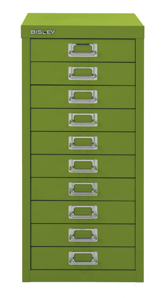 BISLEY 10 DRAWER GREEN