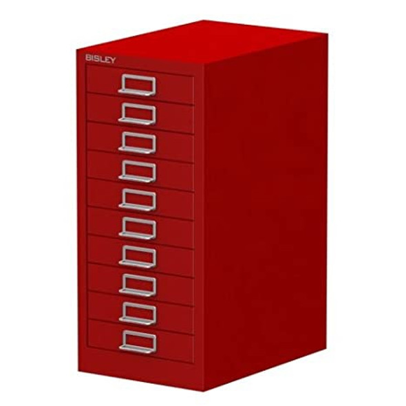 BISLEY 10 DRAWER CARDINAL RED