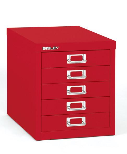 BISLEY 5 DRAWER CARDINAL RED