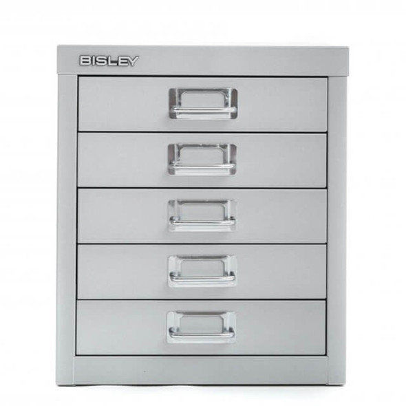BISLEY 5 DRAWER SILVER