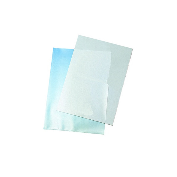 Q-CONNECT CUT FLUSH FOLDERS A4 CLEAR (PACK OF 100)