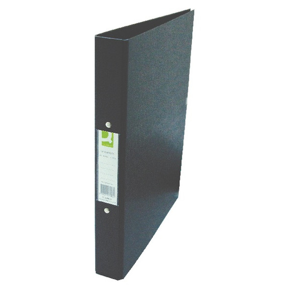 Q-CONNECT 25MM 2 RING BINDER POLYPROPYLENE A4 BLACK (PACK OF 10)