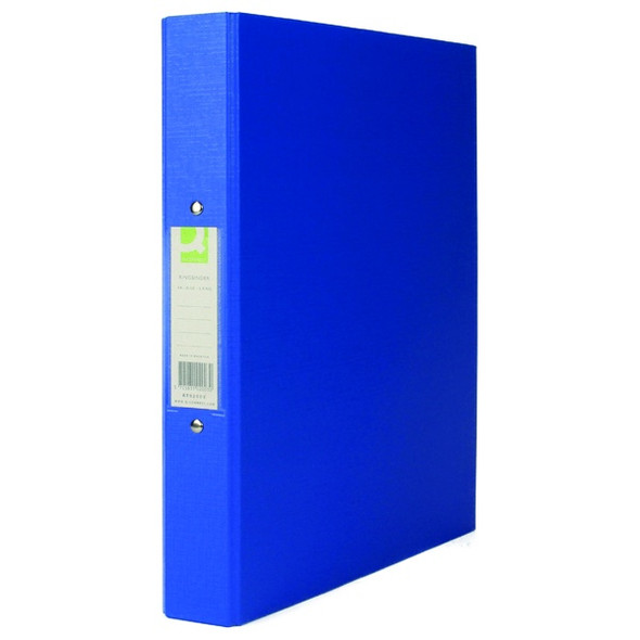Q-CONNECT 25MM 2 RING BINDER POLYPROPYLENE A4 BLUE (PACK OF 10)