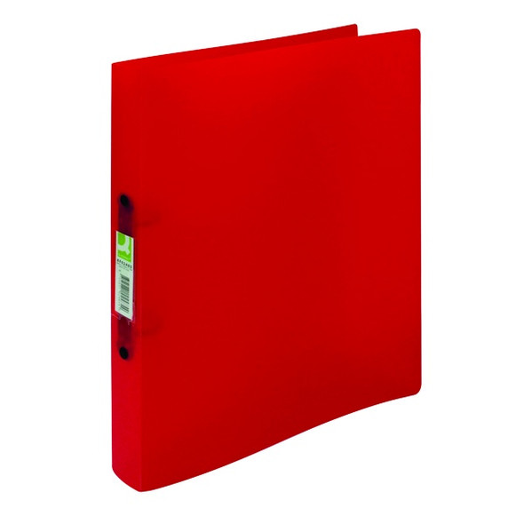 Q-CONNECT 2 RING BINDER FROSTED A4 ASSORTED (PACK 12)
