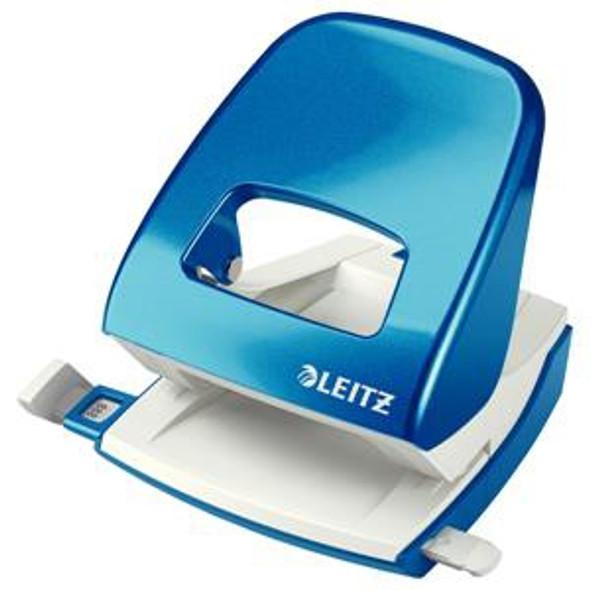 Leitz Durable Medium-Duty Metal Hole Punch (Metallic Blue)