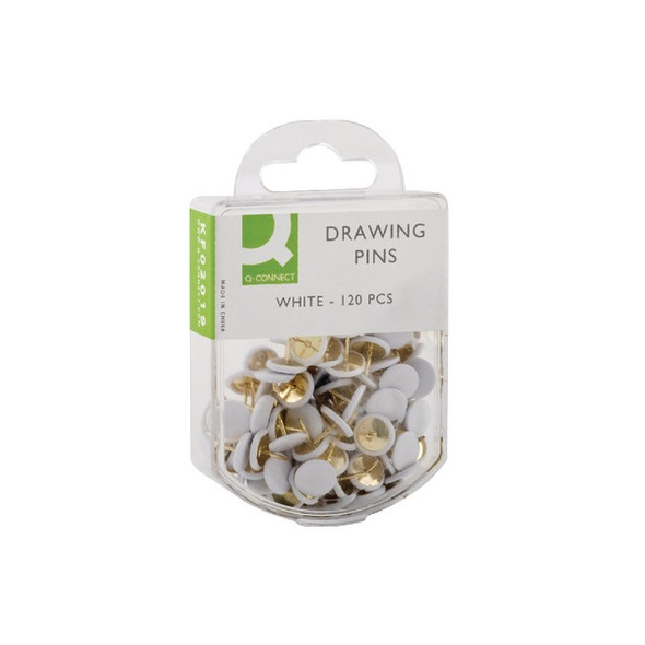 Q CONNECT DRAWING PINS WHITE PACK 120