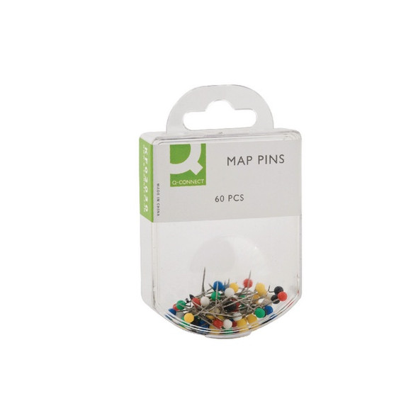 Q CONNECT MAP PINS PACK 60