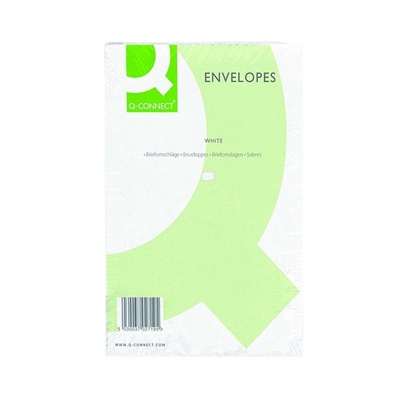 Q-CONNECT C4 ENVELOPES PEEL AND SEAL 100GSM WHITE (PACK OF 250)