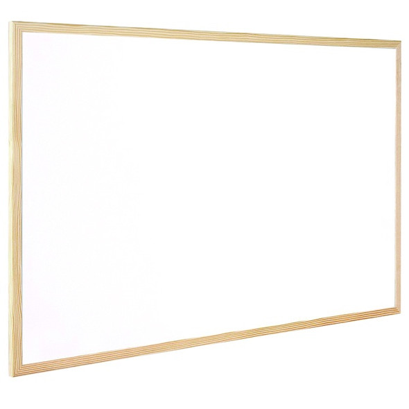Q-CONNECT WOODEN FRAME WHITEBOARD 600X400MM