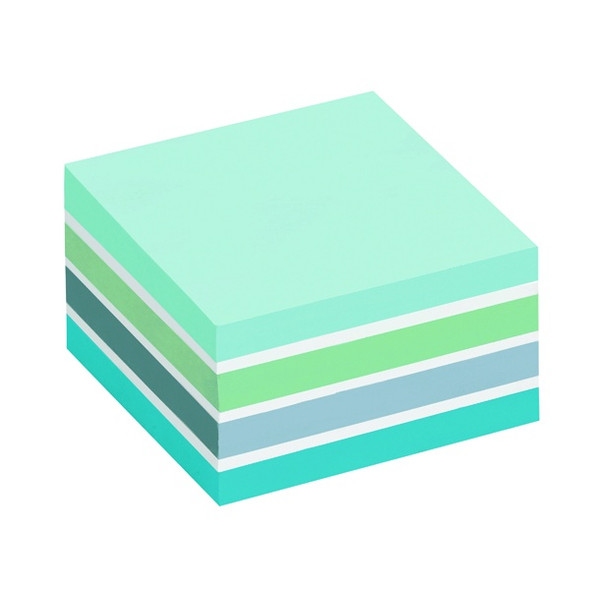POST-IT NOTES COLOUR CUBE 76 X 76MM PASTEL BLUE