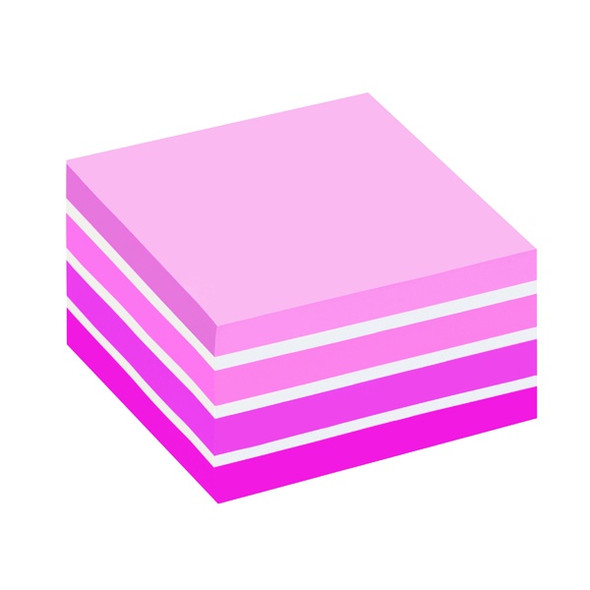 POST-IT NOTES COLOUR CUBE 76 X 76MM PASTEL PINK