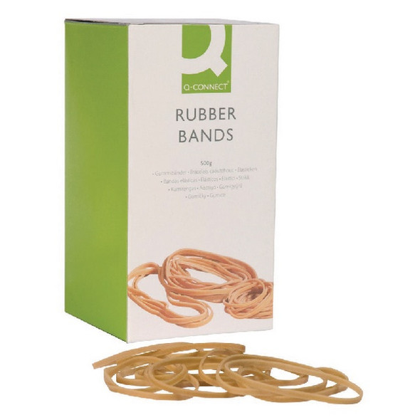 Q-CONNECT RUBBER BANDS ASSORTED SIZES 100G