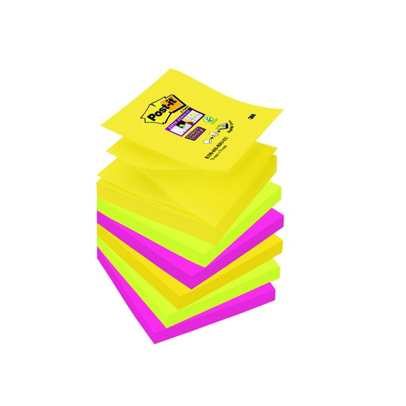 POST-IT SUPER STICKY Z-NOTES 76 X 76MM RIO (PACK OF 6)