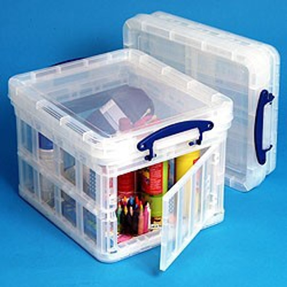 REALLY USEFUL BOX CLEAR 35L FOLDING