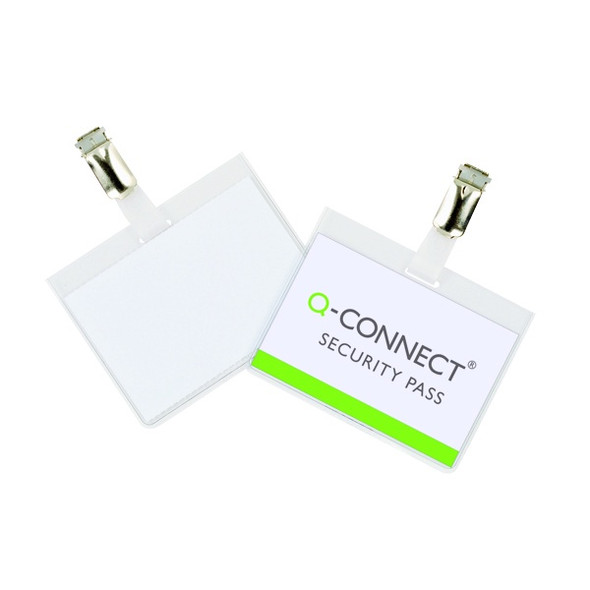 Q-CONNECT SECURITY BADGE 60X90MM (PACK OF 25)
