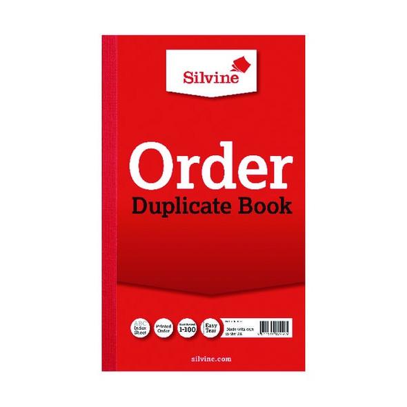 SILVINE DUPLICATE ORDER BOOK 210X127MM SINGLE