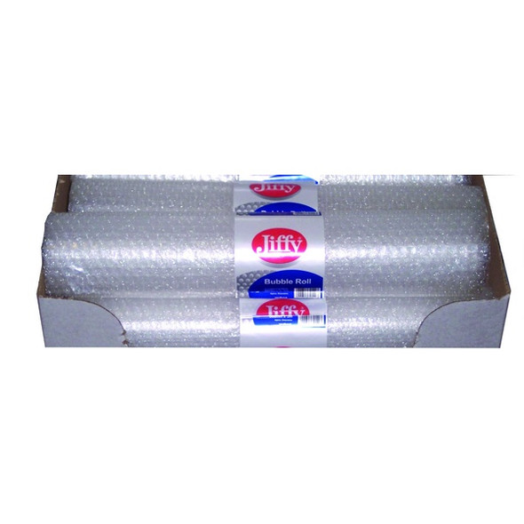 JIFFY BUBBLE WRAP ROLL 500MM SMALL CLEAR SINGLE