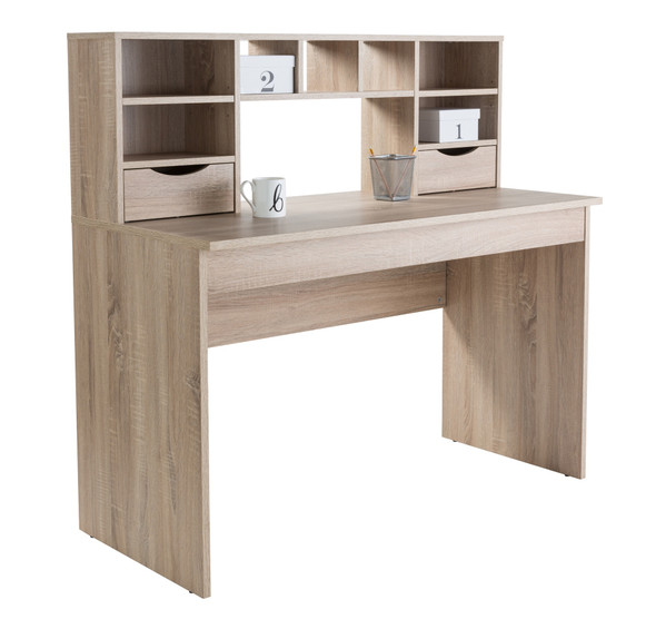ALBION LIGHT OAK DESK WITH HUTCH DESK