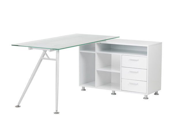 AUGUSTA GLASS WORK CENTRE DESK