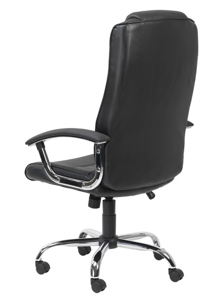 HOUSTON LEATHER BLACK EXECUTIVE CHAIR
