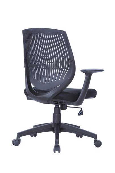Malibu Fabric Seat with Black Plastic Back Chair