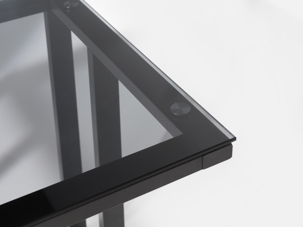AIR BLACK FRAME SMOKED GLASS DESK