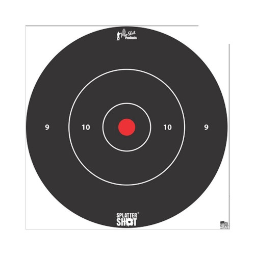 12in White Bulls Eye Target 5 Pk Bag