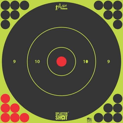 6 Splattershot Bullseye Grn 12 Target Pk