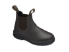 Angle View Blundstone 630 Kids Brown premium leather elastic sided cotton lined boots (630)
