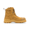 Zip View Blundstone 992 Wheat Premium Nubuck Lace Up Steel Cap Safety Boot (Blundstone 992)