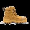 Zip View Blundstone 992 Wheat Premium Nubuck Lace Up Steel Cap Safety Boot (Blundstone 992)