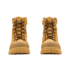Front View Blundstone 992 Wheat Premium Nubuck Lace Up Steel Cap Safety Boot (Blundstone 992)