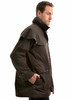 Side View Thomas Cook High Country Professional Oilskin Short Coat (TCP1731408)