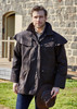 Wearing Thomas Cook High Country Professional Oilskin Short Coat (TCP1731408)