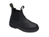 Angle View Blundstone 631 Kids Black full grain leather elastic side boots with comfort foot bed (631)